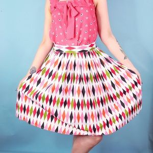 queen of holloway Skirts - Harlequin Print Pin Up Skirt